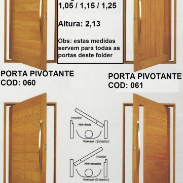 Portas Pivotante